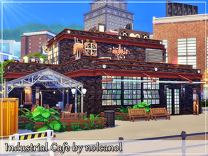 Sims 4 — Industrial Cafe by nolcanol — Industrial Cafe is a cafe where everyone will relax, with delicious coffee and