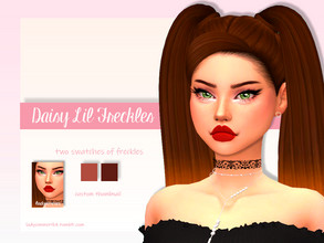 Sims 4 — Daisy Lil' Freckles by LadySimmer94 — BGC 3 swatches Found in Skin Details Custom Thumbnail (as seen on the ad)