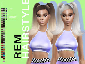 Sims 4 — LeahLillith REM Hairstyle by Leah_Lillith — REM Hairstyle All LODs Smooth bones Custom CAS thumbnail Works with