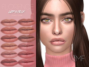 Sims 4 — IMF Florence Lipstick N.288 by IzzieMcFire — Florence Lipstick N.288 contains 12 colors in hq texture.