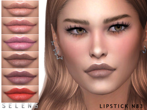 Sims 4 — Lipstick N83 by Seleng — Teen to Elder Female 15 colours Custom Thumbnail HQ mod compatible The picture was