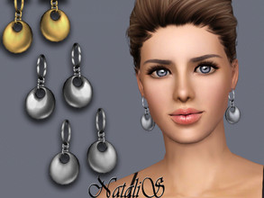 Sims 3 — NataliS TS3 Puff drop earrings by Natalis — Puff drop earrings. FT-FA-FE