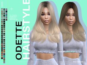 Sims 4 — LeahLillith Odette Hairstyle by Leah_Lillith — Odette Hairstyle All LODs Smooth bones Custom CAS thumbnail Works