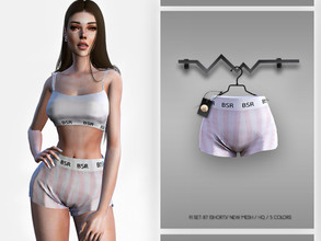 Sims 4 — PJ SET-87 (SHORT) BD331 by busra-tr — 5 colors Adult-Elder-Teen-Young Adult For Female Custom thumbnail