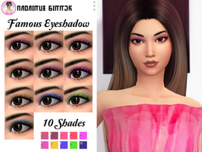 Sims 4 — Famous Eyeshadow  by Anonimux_Simmer — Hello, today I bring you a new eyeshadow for your sims, it is the one to