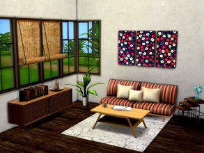 Sims 4 — Japanese Floral Painting  by rrttjpjp — Flower for your room! The file has 7 swatches. MESH REQUIRED