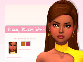 Sims 4 — Beauty Blusher Flush by LadySimmer94 — BGC 2 swatches Custom Thumbnail (as seen on the ad) Teen / Elder Male /