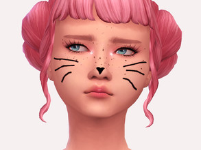 Sims 4 — Love Kitty Facepaint by Sagittariah — base game compatible 2 swatches properly tagged enabled for all occults
