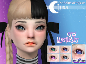 Sims 4 — MysticSky eyes by Luas_Sims — Hi everyone! We have new eyes for You, MysticSky, normal version is here and have