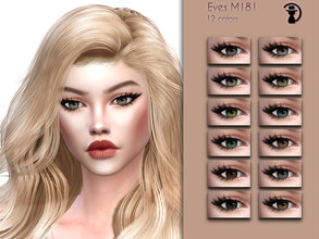 Sims 4 — Eyes M181 by turksimmer — 12 Swatches Works with all of skins Custom Thumbnail Compatible with HQ mod All ages