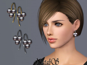 Sims 3 — NataliS TS3 Cluster pearl wire earrings by Natalis — Cluster pearl wire earrings. FT- FA-FE
