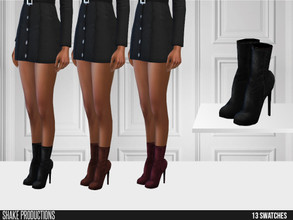 Sims 4 — ShakeProductions 531 - Boots by ShakeProductions — Shoes/ Boots-Heels New Mesh All LODs Handpainted 13 Colors