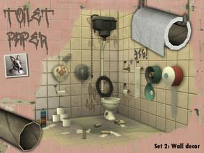 Sims 4 — Toilet Paper - Set 2: Wall decor by Cyclonesue — A collection of toilet roll dispensers and holders for your