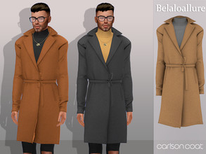 Sims 4 — Belaloallure_Carlson coat by belal19972 — Simple wool coat with turtle neck underneath for your sims , enjoy :)