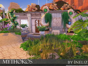 Sims 4 — Mythokos by Ineliz — Mythokos is an ancient lot that used to be covered by deep waters and was recently