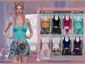 Sims 4 — DSF PAJAMAS SET by DanSimsFantasy — This set is ideal to be at home, give it the use you prefer, it allows you