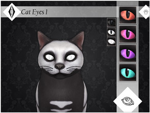 Sims 4 — Cat Eyes 1 - EP04 Needed by AleNikSimmer — Additional fantasy swatches I made for cat eyes, especially familiars