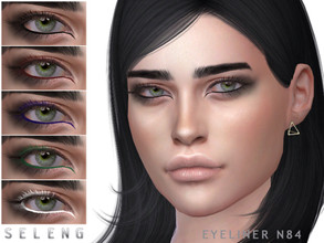 Sims 4 — Eyeliner N84 by Seleng — Female Teen to Elder 6 swatches Custom Thumbnail HQ compatible The picture was taken