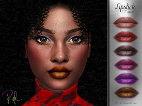 Sims 4 — Lipstick RPL07 by RobertaPLobo — :: Lipstick :: 6 swatches :: Female (Adult) :: HQ mod compatible :: Custom