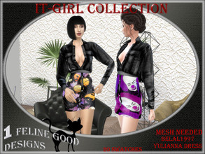Sims 4 — It Girl dress 02 by Merit_Selket — ItGirl Collection 20 swatches Teen - Young Adult - Adult - Elder recolor of