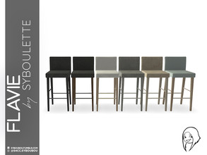 Sims 4 — Flavie - Bar stool by Syboubou — This simple yet design stool will allow the bar customer to feel confortable