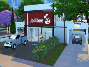 Sims 4 — Jollibee Fast Food Stickers by simlyph — These are just simple Jollibee CC Stickers.