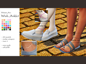 Sims 4 — Yabppi_Acc_Wish Anklet by Yabppi — There are two version. (F/M)