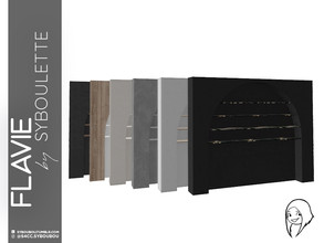 Sims 4 — Flavie - Wall shelf by Syboubou — This wall shelf will give your room a lot of space to clutter decorations or