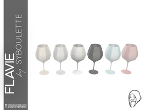 Sims 4 — Flavie - Burgundy wine glass by Syboubou — Many people think stemmed glass are all the same, they're wrong. As a