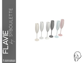 Sims 4 — Flavie - Champagne glass by Syboubou — Many people think stemmed glass are all the same, they're wrong. As a
