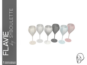 Sims 4 — Flavie - Dessert wine glass by Syboubou — Many people think stemmed glass are all the same, they're wrong. As a