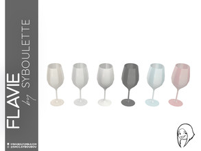 Sims 4 — Flavie - Red wine glass by Syboubou — Many people think stemmed glass are all the same, they're wrong. As a