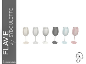 Sims 4 — Flavie - White wine glass by Syboubou — Many people think stemmed glass are all the same, they're wrong. As a