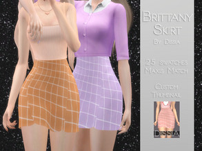 Sims 4 — Brittany Skirt by Dissia — Brittany Skirt 25 swatches Hope you like it ;)
