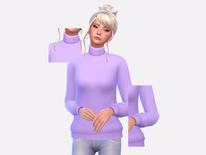 Sims 4 — DU Turtleneck Pastel Recolor by Sagittariah — REQUIRES DISCOVER UNIVERSITY 30 swatches properly tagged enabled