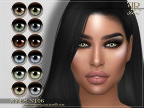 Sims 4 — FRS Eyes N106 by FashionRoyaltySims — Standalone Custom thumbnail All ages and genders 12 color options HQ