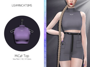 Sims 4 — LMCS MiCat Top by Lisaminicatsims — -Adult-Elder-Teen-Young Adult -New Mesh -21 swatches