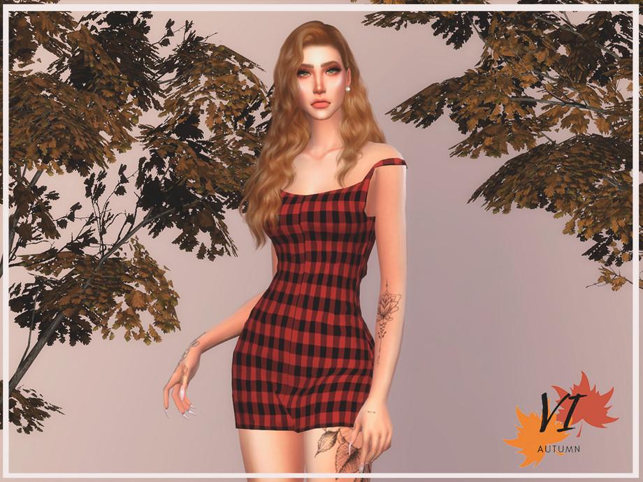 Dress IV Autumn VI by Viy Sims at TSR » Sims 4 Updates