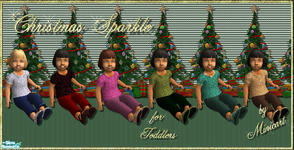 Sims 2 — Christmas Sparkle for Toddlers by minicart — A set of six sparkly outfits for your toddler for the holiday
