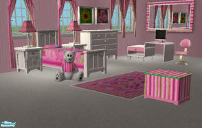 Sims 2 — *Little Miss* Bedroom Set by RockinRobin — A colorful bedroom suite that will take your Sims from baby all the