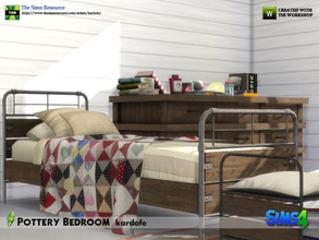 Sims 4 — kardofe_Pottery Bedroom by kardofe — Set of nine new meshes, to recreate a bedroom for teenagers or young