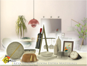 Sims 4 — Freya Dining Room Extra Materials by Onyxium — Onyxium@TSR Design Workshop Dining Room Collection | Belong To