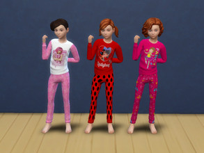 Sims 4 — Cartoon pyjama for kids by Arisha_214 — Cool pyjamas for your little cartoons fans :) Girls pyjama set includes: