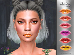 Sims 4 — Lipstick RPL08 by RobertaPLobo — :: 6 swatches :: Female (Adult) :: HQ mod compatible :: Custom thumbnail ::