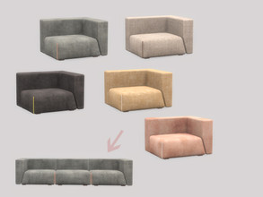 Sims 4 — Living Avon - Sofa (Right) by ung999 — Living Avon - Sofa (Right) Color Options : 5 Located at : Comfort / sofa