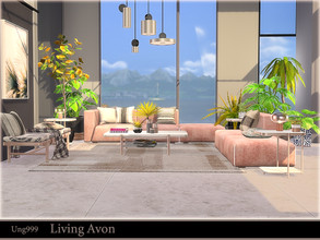 Sims 4 — Living Avon  by ung999 — You can arrange the sofa seater as you like in this modern living room set. The set