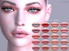Sims 4 — Lipstick Kira by ANGISSI — Previews made with HQ mod -20 colors -HQ compatible -female -Custom thumbnail -Works