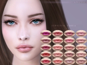 Sims 4 — Lipstick Viola by ANGISSI — Previews made with HQ mod -20 colors -HQ compatible -female -Custom thumbnail -Works