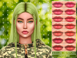 Sims 4 — JUL_HAOS [COSMETICS] LIPSTICK #58 by Jul_Haos — - CATEGORY: LIPSTICK - COLORS: 14 - GENDER - FEMALE - HQ