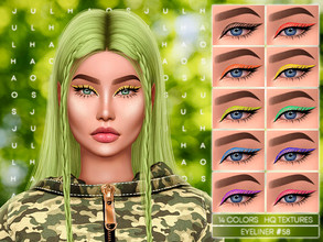 Sims 4 — JUL_HAOS [COSMETICS] EYELINER #58 by Jul_Haos — - CATEGORY: EYELINER - COLORS: 14 - GENDER - FEMALE - HQ